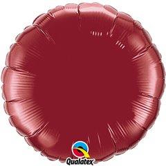 Balon folie burgundy metalizat rotund - 45 cm, Qualatex 74917, 1 buc
