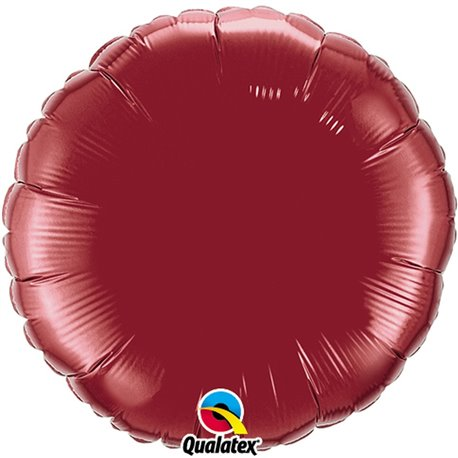 Balon folie burgundy metalizat rotund - 45 cm, Qualatex 74917, 1 buc