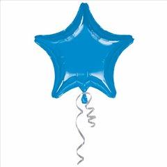 Balon folie jumbo stea albastra metalic - 80cm, Amscan 1623999