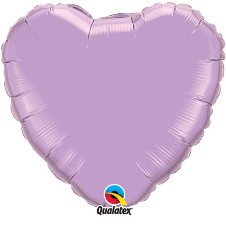 "Metallic Pearl Lavender Heart Foil Balloon - 36""/91 cm, Qualatex 74628, 1 piece"