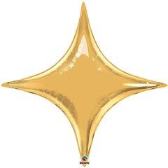 Balon Folie Auriu Metalizat Starpoint - 102 cm, Qualatex 15565, 1 buc