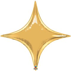 "Metallic Gold Starpoint Foil Balloon - 20""/50 cm, Qualatex 22917, 1 piece"