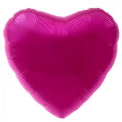 Balon folie magenta metalizat inima - 45cm, Northstar Balloons 00746