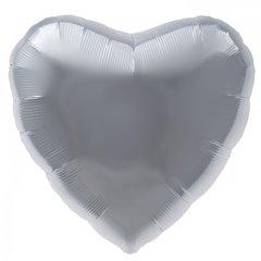 Balon folie argintiu metalizat inima - 45cm, Northstar Balloons 00749