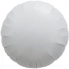 Balon folie alb metalizat rotund - 45cm, Northstar Balloons 00991