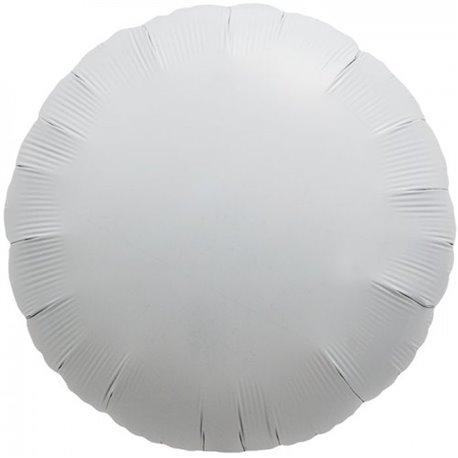Balon folie alb metalizat rotund - 45 cm, Northstar Balloons 00991, 1 buc