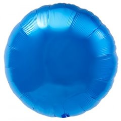 "Metallic Blue Circle Foil Balloon - 18""/45 cm, Northstar Balloons 00729, 1 piece"