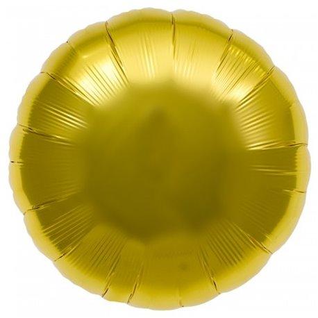 "Metallic Gold Circle Foil Balloon - 18""/45 cm, Northstar Balloons 00730, 1 piece"