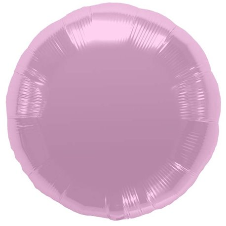 "Metallic Pastel Pink Circle Foil Balloon - 18""/45 cm, Northstar Balloons 00735, 1 piece"