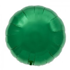 "Metallic Emerald Green Circle Foil Balloon - 18""/45 cm, Northstar Balloons 00742, 1 piece"