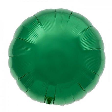 Balon folie emerald green metalizat rotund - 45 cm, Northstar Balloons 00742, 1 buc