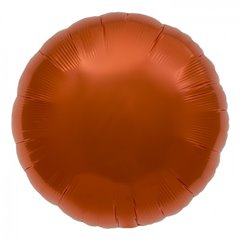 Balon folie orange metalizat rotund - 45 cm, Northstar Balloons 00738, 1 buc