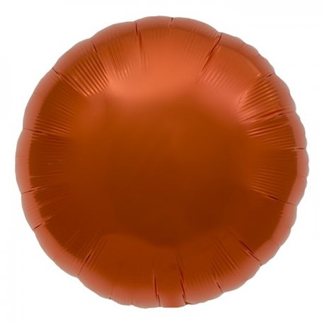 "Metallic Orange Circle Foil Balloon - 18""/45 cm, Northstar Balloons 00738, 1 piece"