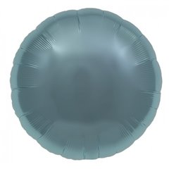 "Metallic Pastel Blue Circle Foil Balloon - 18""/45 cm, Northstar Balloons 00736, 1 piece"