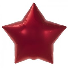"Metallic Red Star Foil Balloon - 18""/45cm, Northstar Balloons 00372, 1 piece"