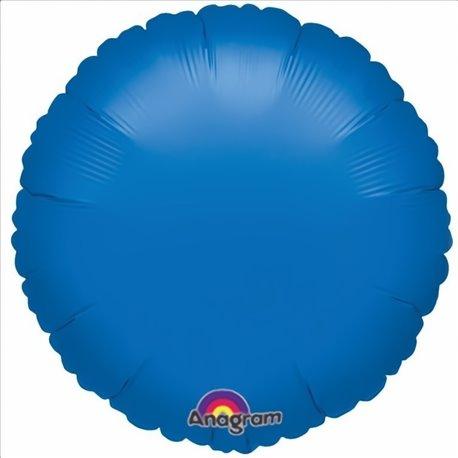 "Metallic Blue Circle Foil Balloons - 18""/45 cm, Amscan 19887, 1 piece"