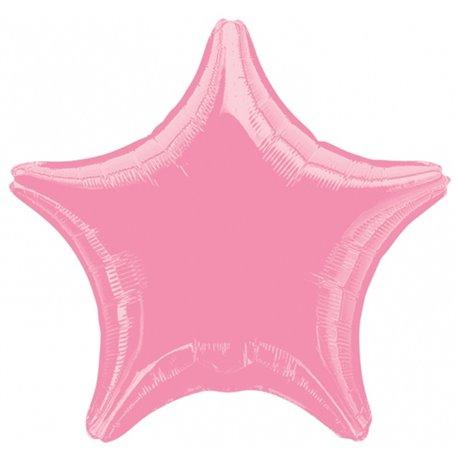 "Metallic Pink Star Foil Balloon - 19""/48cm, Amscan 21633-40, 1 piece"