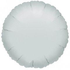 """Metallic Silver Circle Foil Balloon - 18""""/45 cm, Amscan 21584, 1 piece"""