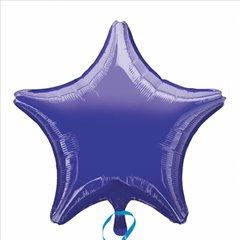 Balon folie violet metalizat stea - 48cm, Amscan 20356