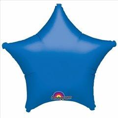 Balon folie albastru metalizat - forma de stea - 48 cm, Amscan 1988860, 1 buc