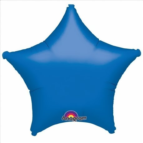 "Stars Blue Standard Foil Balloon - 19""/48 cm, Amscan 1988860, 1 piece"