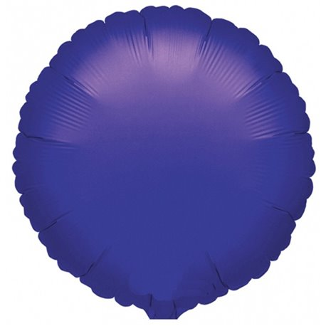 "Metallic Violet Circle Foil Balloon - 18""/45 cm, Amscan 21616, 1 piece"