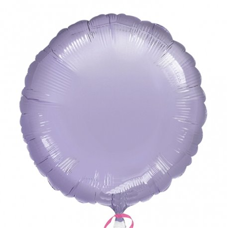 "Metallic Lilac Circle Foil Balloon - 18""/45 cm, Amscan 21628-40, 1 piece"