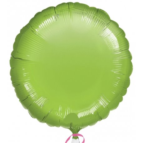 "Metallic Lime Green Circle Foil Balloon - 18""/45 cm, Amscan 21631-40, 1 piece"