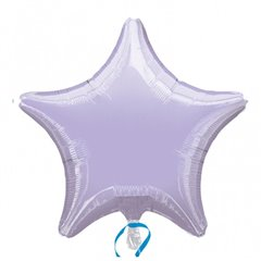 "Metallic Lilac Star Foil Balloon - 19""/48 cm, Amscan 21627, 1 piece"
