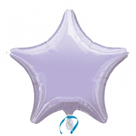 Balon folie lila metalizat cu forma de stea - 48 cm, Amscan 21627, 1 buc