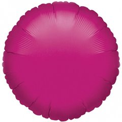 "Metallic Fuchsia Circle Foil Balloon - 18""/45 cm, Amscan 21610-40, 1 piece"