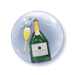 "Double Bubble Balloon, Champagne, Qualatex, 24"", 68810"