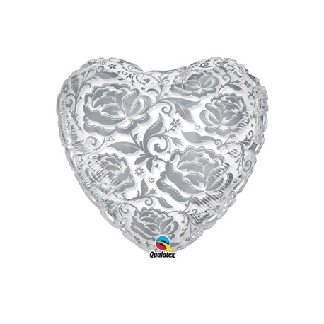 "Crystal Roses & Flowers Silver, Qualatex, 24"", 81662"