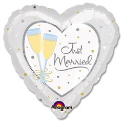 "Just Married Foil Balloon, Amscan, 32"", 11383"