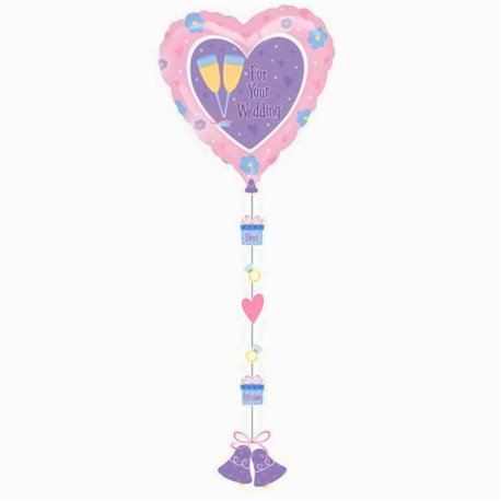 "For Your Wedding Drop Line Balloon, 24"", 11277"