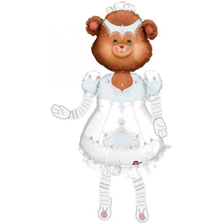 "Teddy Bride Airwalker Balloon, Amscan, 53"", 04935"