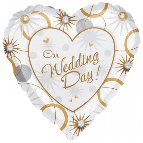 "Our Wedding Day Foil Balloon - 18""/45cm, Amscan 1603101"