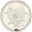 Balon Folie 45 cm Best Wishes On Your Wedding Day, Amscan 113600