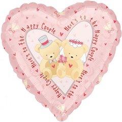 "Happy Couple Heart Shaped Foil Balloon - 18""/45cm, Amscan 16032"