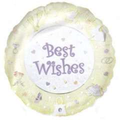 "Balon Folie 45 cm ""Best Wishes"", Amscan 09184"