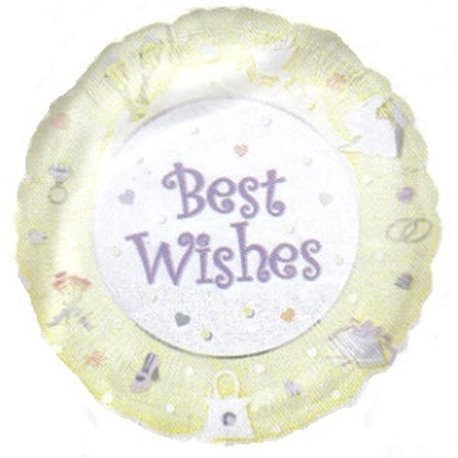 "Best Wishes Foil Balloon - 18""/45cm, Amscan 09184"