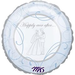 "Balon folie 45cm ""Happily Ever After"", Amscan 10905"