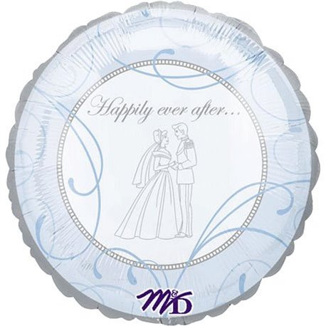 "Balon Folie 45 cm ""Happily Ever After"", Amscan 10905"