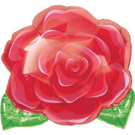 Balon Folie 45 cm Figurina Trandafir Rosu, Amscan 1202101