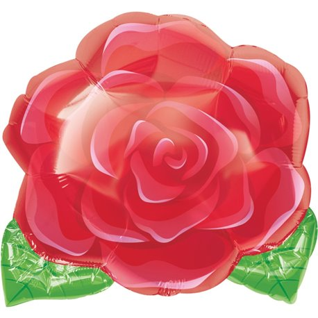 "Blooming Rose Junior Shape Standard Foil Balloon - 18""/45cm, Amscan 1202101"