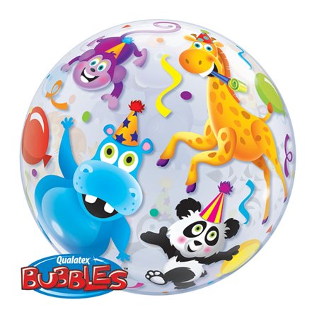 "Party Animals Bubble Balloon - 22""/56cm, Qualatex 13737, 1 piece"