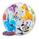 "Party Animals Bubble Balloon - 22""/56cm, Qualatex 13737, 1 piece"