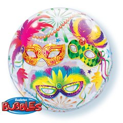 "Balon Bubble 22""/56cm Qualatex, Masquerade, 90599"