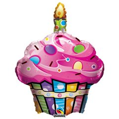 Fun & Funky Cupcake Shape Foil Balloon - 68 cm, Qualatex 16256
