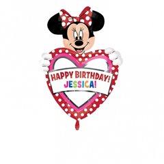 Balon folie figurina Minnie Mouse cu personalizare - 60x83cm, Amscan 26363